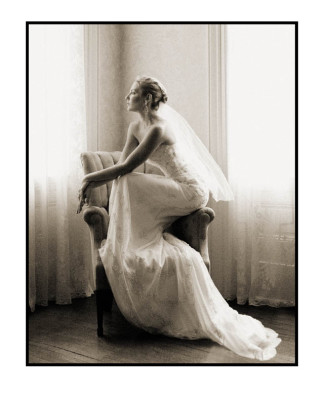 Bride on Chair
