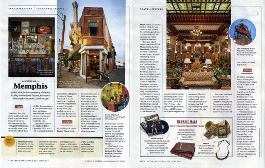Southern Living May 2015 Issue - A Weekend in Memphis